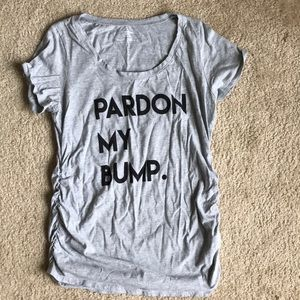 "Motherhood Maternity ""Parfon My Bump"" tee NWOT"
